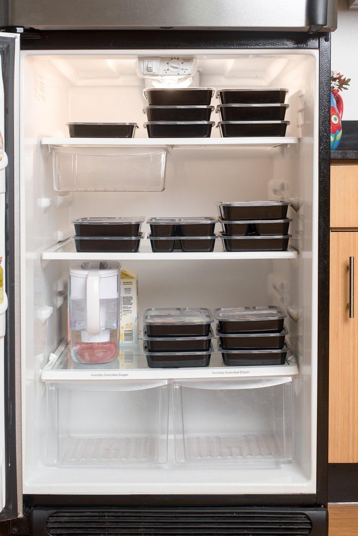 Pack de 10] KAMIERFA Premium apilable 2 compartimentos comida Prep ...
