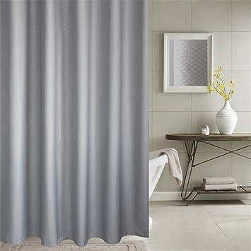 Duschvorhang Anti Schimmel U0026 Wasserdicht 100% Polyester Badezimmer  Duschvorhang Mit Verstärktem Saum, Mit
