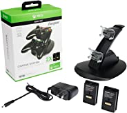 PDP 037-011-NA Energizer Xbox 360 Power & Play Controller Charger with Rechargeable Battery Pack for Two Wireless Controller