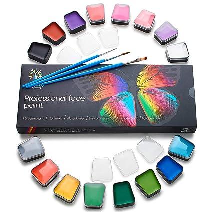 amazon com face paint kit body paint set non toxic