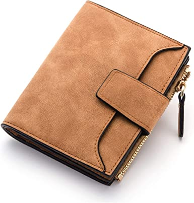 Leather Women Wallet Hasp Small And Slim Coin Pocket Purse Women Wallets Cards Holders Luxury Brand Wallets Designer Purse Brown At Amazon Women S Clothing Store