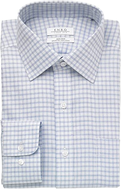 Enro Mens Parkview Twill Non-Iron Classic Fit Dress Shirt