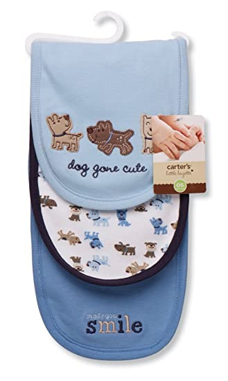 Carters 3 Piece Burp Cloth, Dog Gone Cute (Discontinued by Manufacturer)