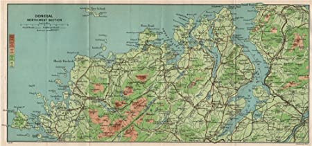 Map Of North West Ireland.North West Donegal Derryveigh Mountains The Rosses Lough Swilly