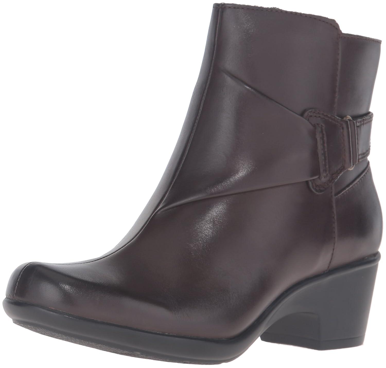 CLARKS Women's Malia McCall Boot B0198WJO5M 9.5 B(M) US|Dark Brown Leather