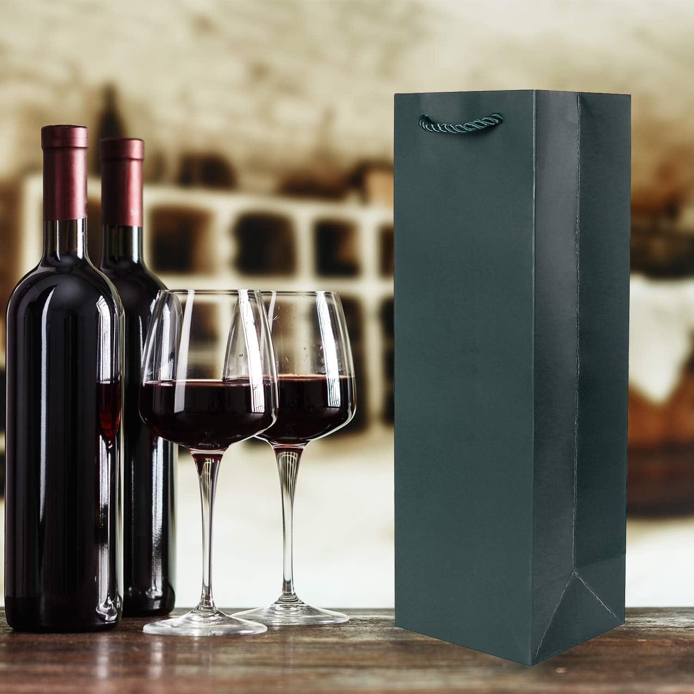 10er Packung Flaschent/üten Geschenkt/üten lila f/ür Wein Sekt und Champagner geeignet 36x12x10