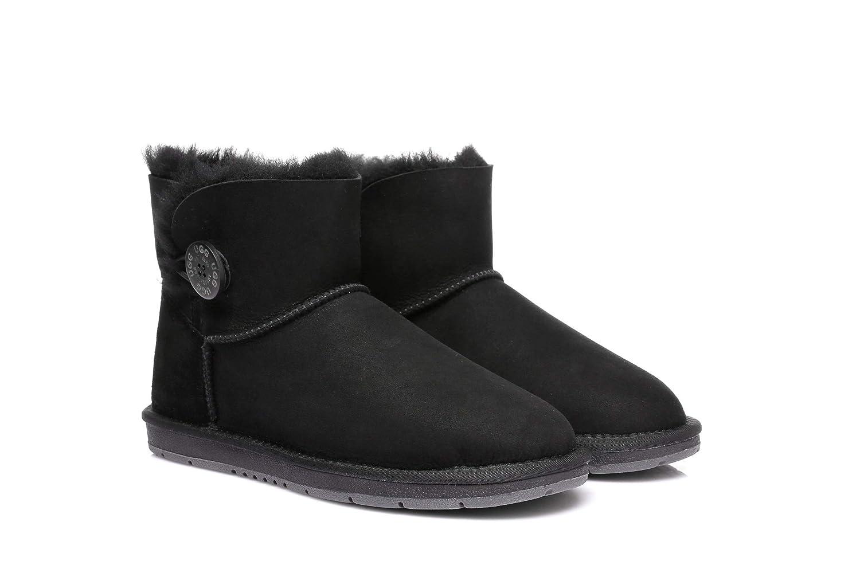 8a2bb0aa569 UGG Boots Australia Premium Double Face Sheepskin Mini Button,Water  Resistant #15702 Grey