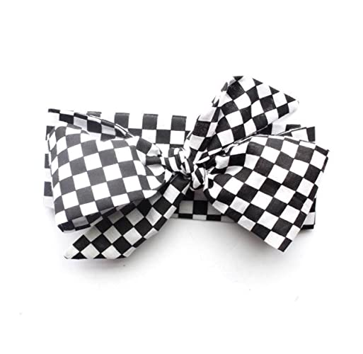 df35b637e6035 Amazon.com: Checkered Flag Black and White Racing Race Day Top Knot ...