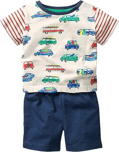 Fiream Boy's Cotton Clothing Sets T-Shirt&Shorts 2 Packs