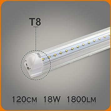 Berühmt OUBO 120cm LED Leuchtstoffröhre komplett Set mit Fassung kaltweiss DE04