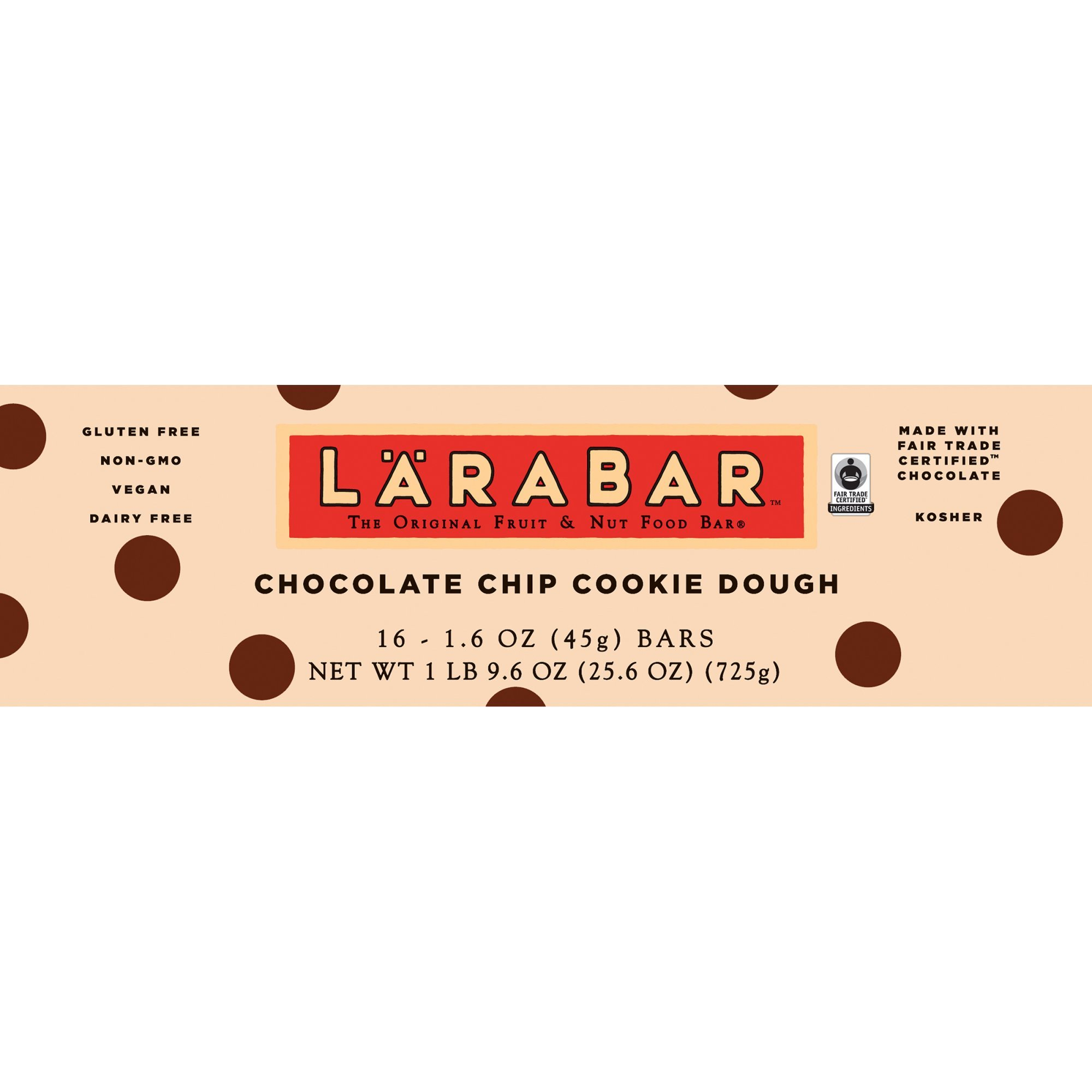 Lärabar Chocolate Chip Cookie Dough Fruit & Nut Bars 16 ct Box (Pack of 5) by Larabar (Image #3)