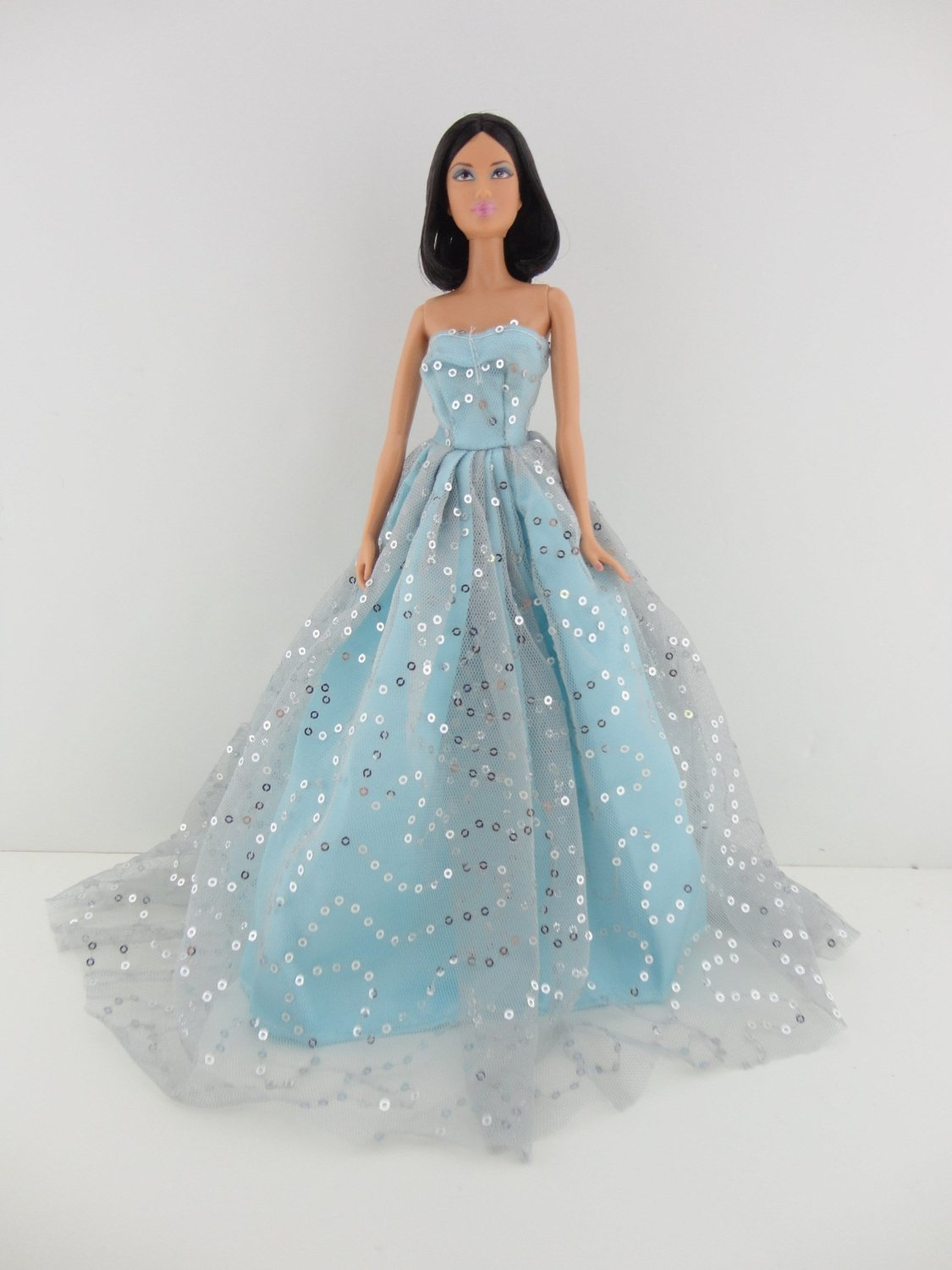 Amazon.com: A Light Blue Ball Gown with Lots of Sparkle Made to Fit ...