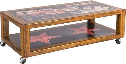 Stones Collezione Hollywood Tavolino Legno Multicolore 100x50x30 Cm Amazon It Casa E Cucina