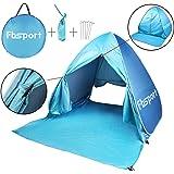 Fb-Sport Portable Light-Weight Beach Tent, Automatic Pop-up Sun Shelter Umbrella, Outdoor Cabana Beach Shade with UPF 50 Plus Sun Protection, Blue
