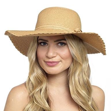 399709ebcf8 LADIES WIDE BRIM FLOPPY SUN HAT  Amazon.co.uk  Clothing