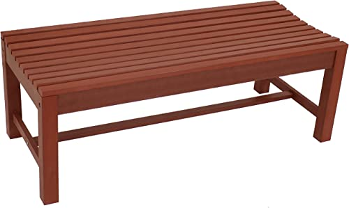 Sunnydaze Shandon Outdoor Backless Bench