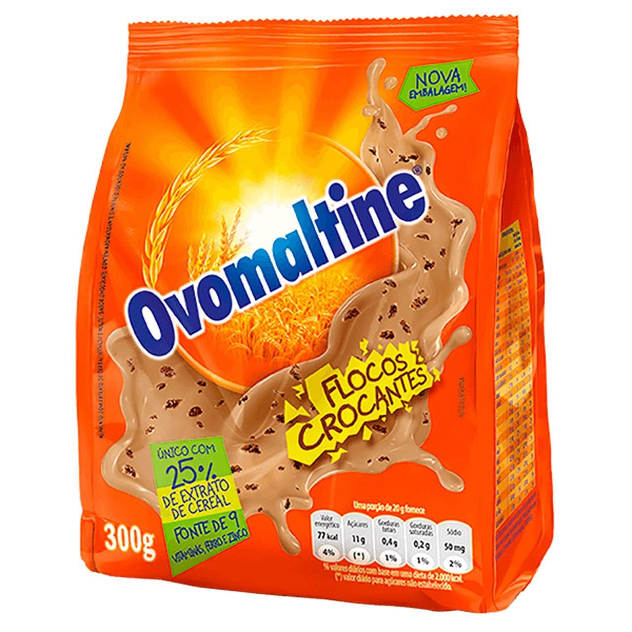 Ovomaltine Crunchy Chocolate Powder 10.58 oz   Ovomaltine Chocolate em Flocos 300g