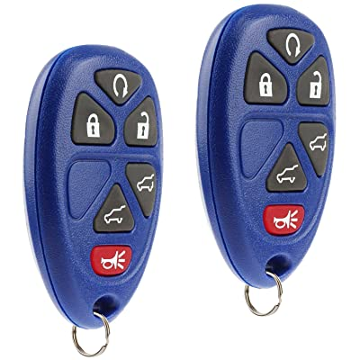 Key Fob Keyless Entry Remote fits 2007-2014 Chevy Tahoe Suburban / 2007-2014 Cadillac Escalade / 2007-2014 GMC Yukon (Blue), Set of 2: Automotive