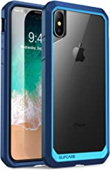 SUPCASE iPhone X, iPhone XS Case, Unicorn Beetle Series Premium Hybrid Protective Frost Clear Case for Apple iPhone X 2017,iPhone XS 5.8 Inch 2018 (Blue/Navy)