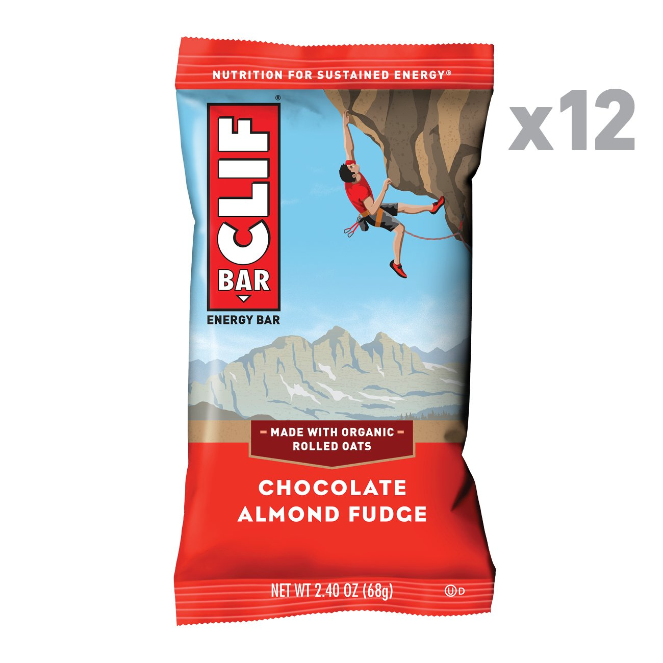 CLIF BAR - Energy Bar - Chocolate Almond Fudge - (2.4 Ounce Protein Bar, 12 Count)