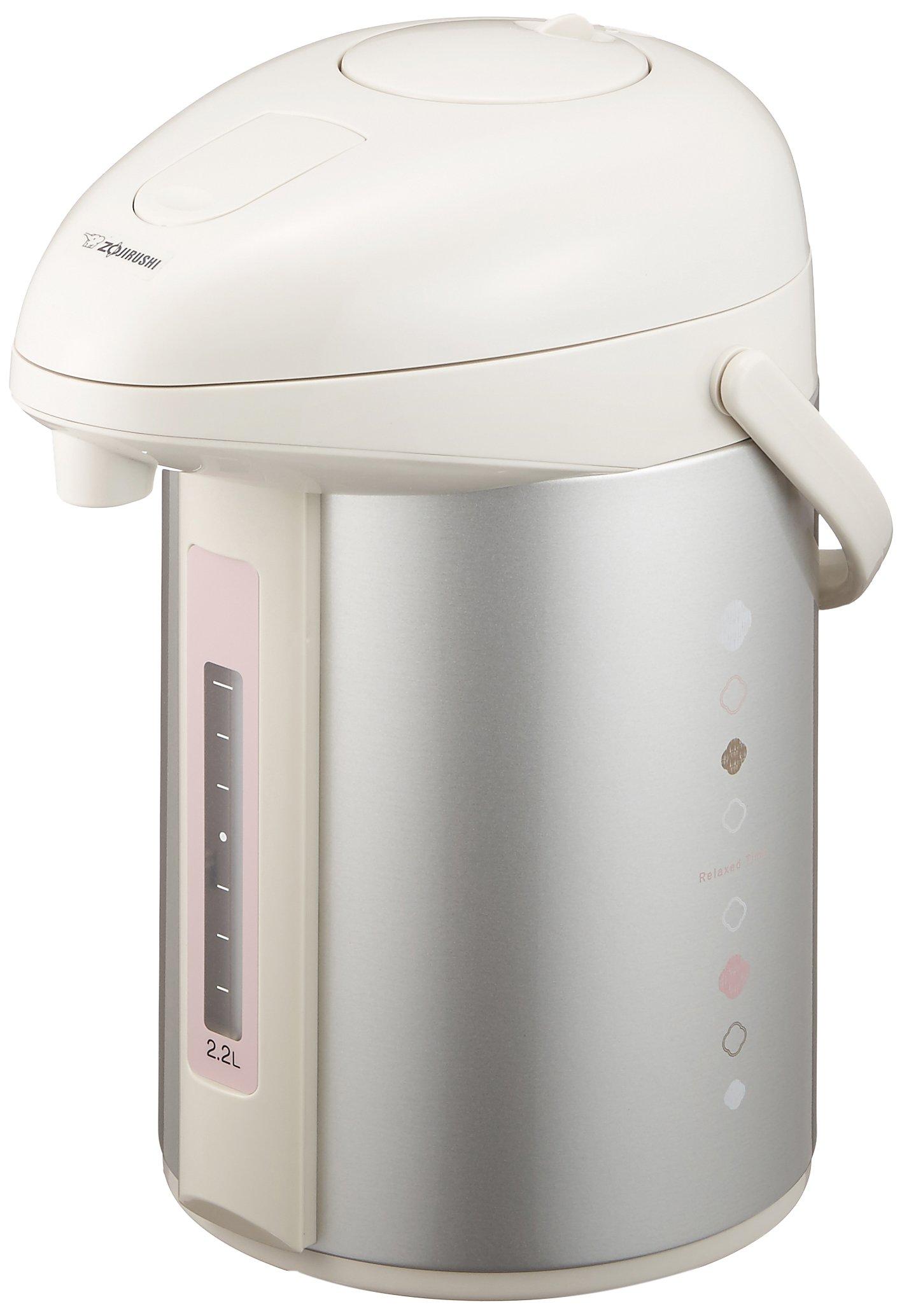 Zojirushi glass air pot ''press only pot'' 2.2L / beige AB-RX22-CA