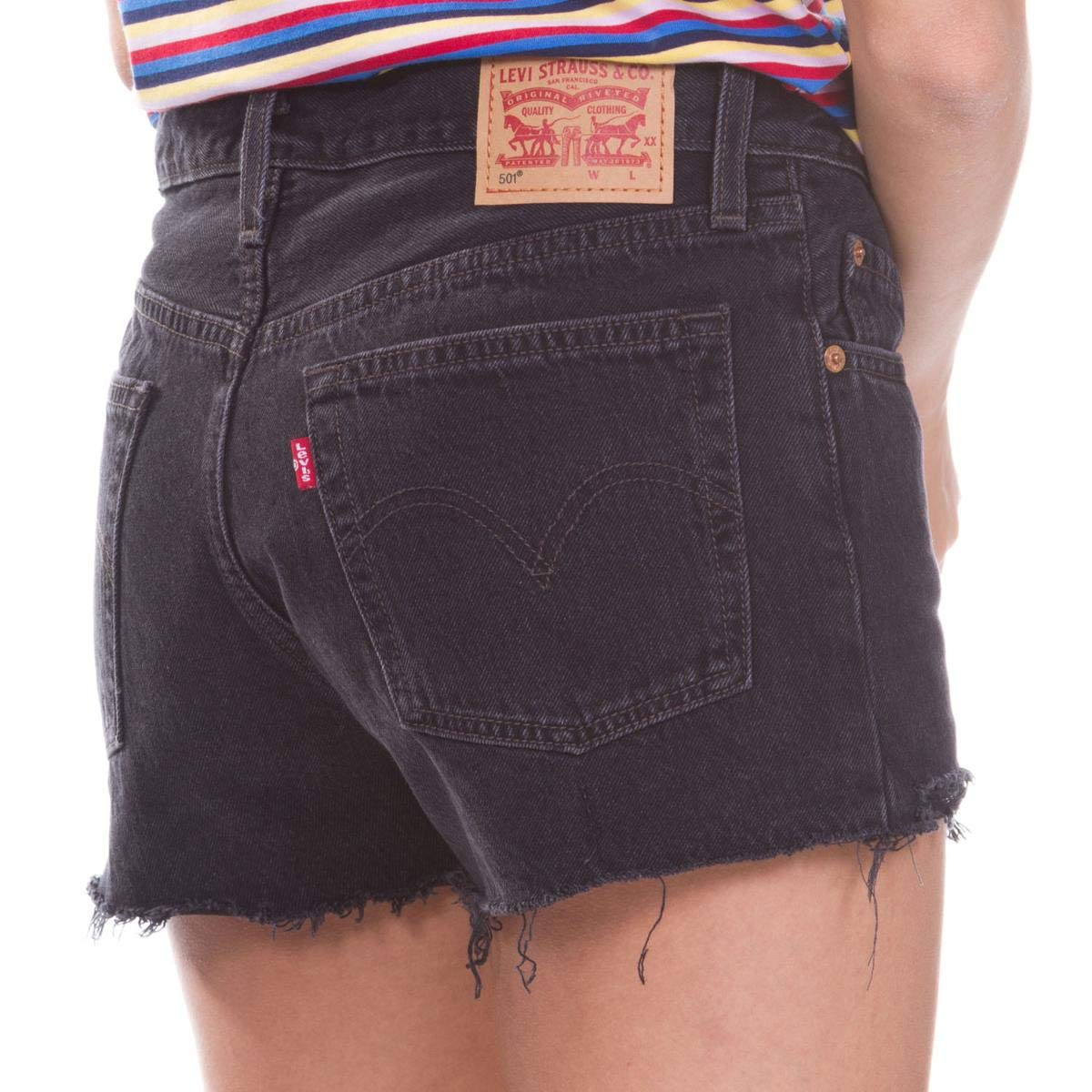 aff29010eb775 Levi's¿ Womens Women's 501¿ Shorts Lunar Black 33 2.5 at Amazon Women's  Clothing store: