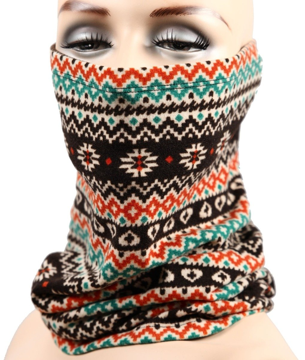 Neck Warmer Womens Mens Snood Face Mask Neck Gaiter Turtle Neck Warmer SNMF-1003 Cordiart