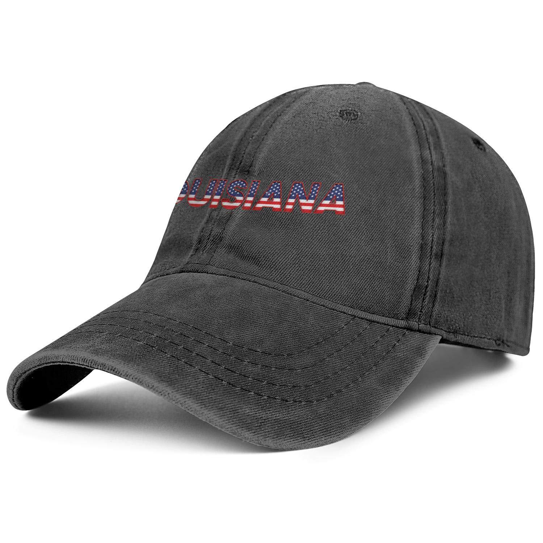 TopCrazy Louisiana USA State Denim Hip Hop Cap Men//Women Street Dancing Cowboy Baseball Caps