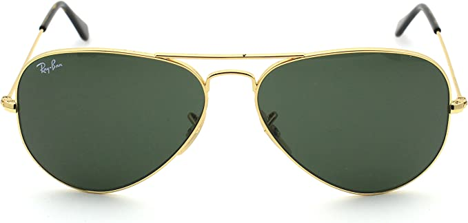 ray ban aviator sunglasses gold frame black lenses