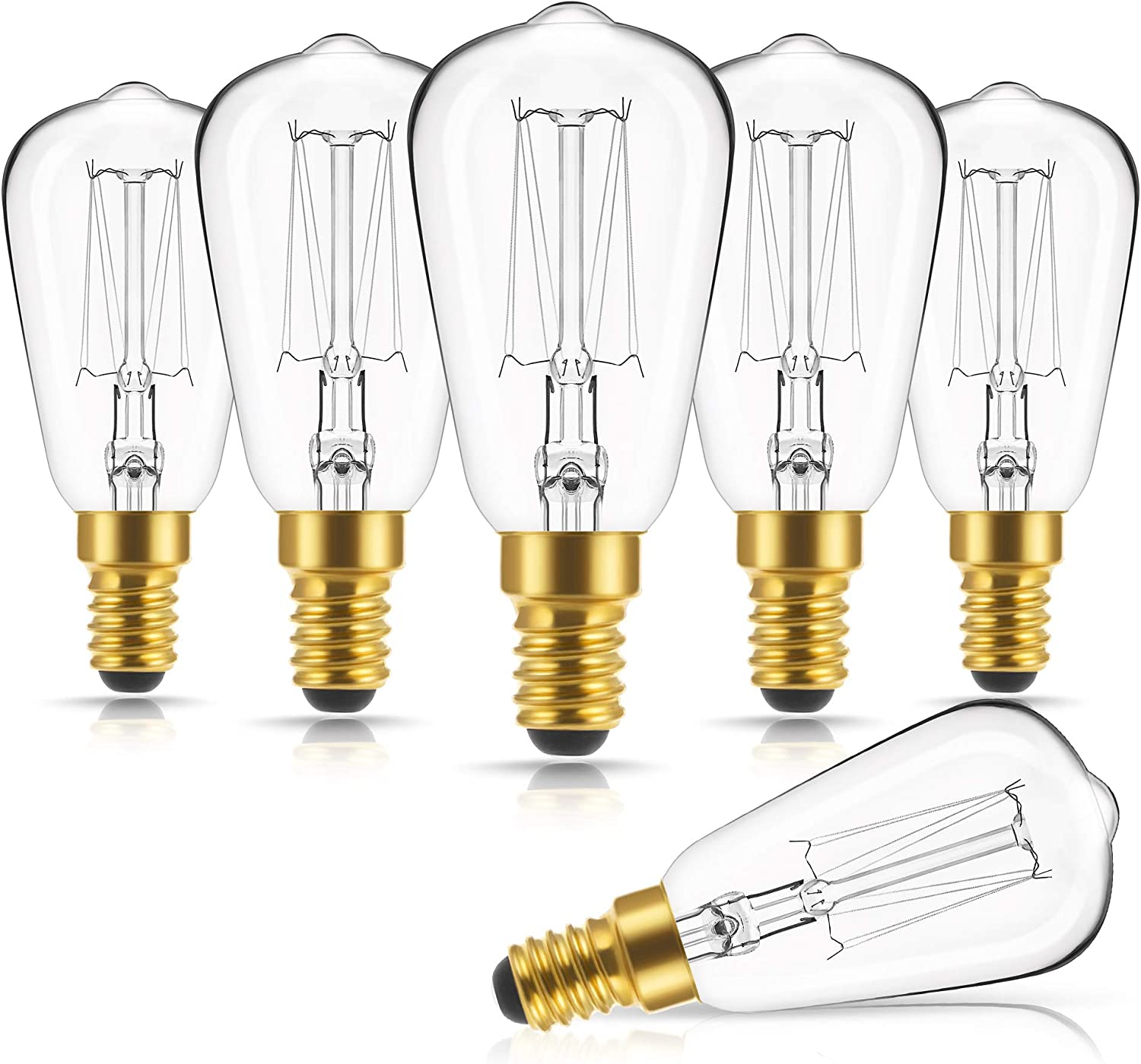 Amazon Com Doresshop Vintage Edison Light Bulbs 40w Dimmable St38 Antique Incandescent Light Bulb 110v 130v E12 Candelabra Base 240lm Warm White 2700k Squirrel Cage Lamp For Home Light Fixtures 6 Pack Home Improvement