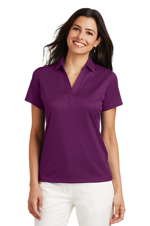 Port Authority® Ladies Performance Fine Jacquard Polo. L528 Violet ...