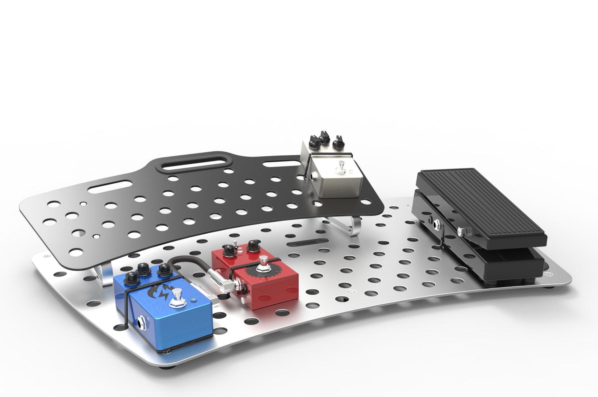 Holeyboard Evo Standard Guitar Effects Pedalboard (Back in Black)