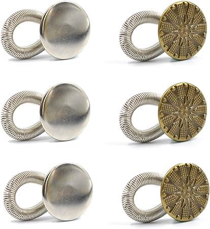 Botones Extensores de Metal para Mujeres Embarazadas eZAKKA, Ballenas Cuello Camisa, Extensores de pantalones, jeans, camisas de vestir, Pack de 6 piezas de 20mm: Amazon.es: Hogar