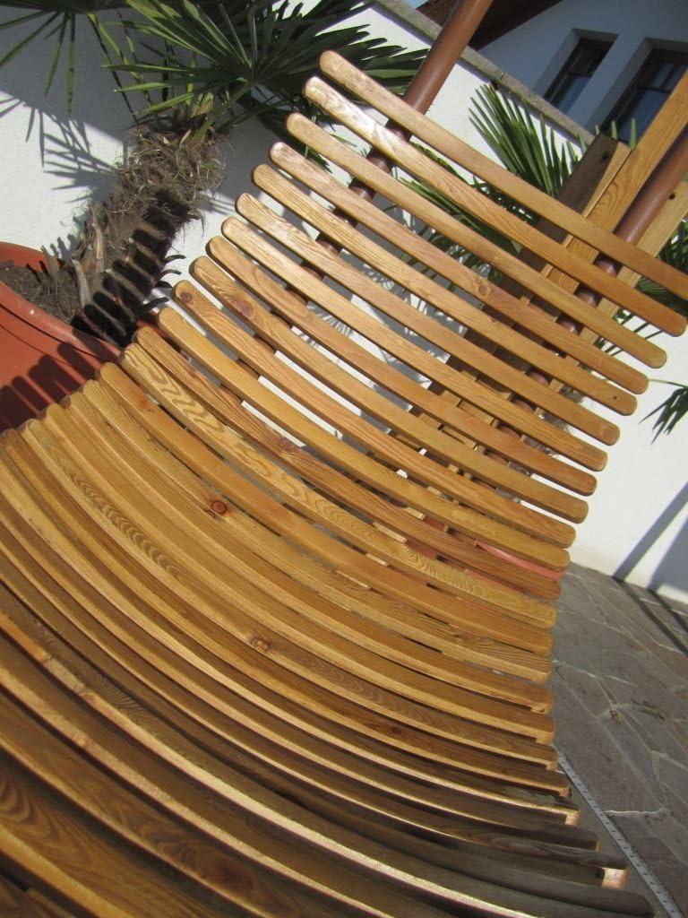 PROGETTAZIONE Amaca appesa sole sedia appesa fatto di modello di legno di larice Navassa-Seat con tampone senza supporto