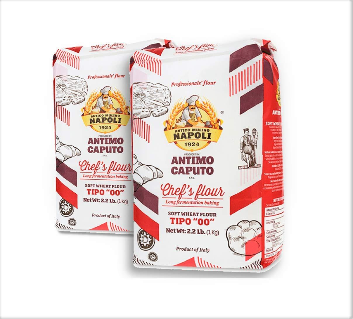 Antimo Caputo Chefs Flour 2.2 LB (Pack of 2) - Italian Double Zero 00 - Soft Wheat for Pizza Dough, Bread, & Pasta by Antimo Caputo