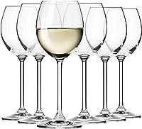Krosno Copas de Vino Blanco | Conjunto 6 Piezas | 250 ML | Venezia Collection Uso en Casa