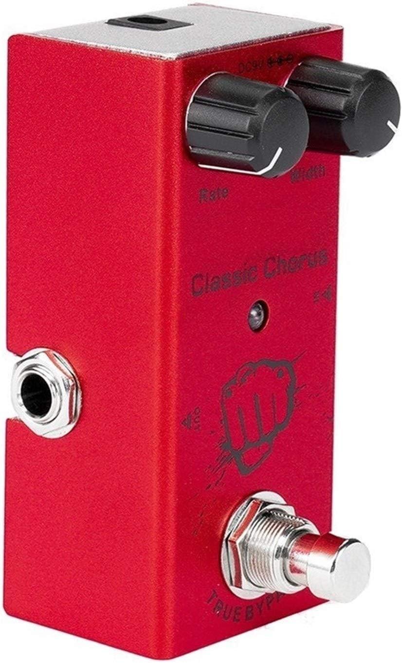 Guitarra pedal de efectos Chorus clásico con bypass real Ukelele Accesorios Guitarra Bass