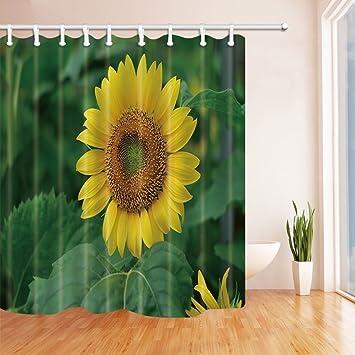 gohebe Sonnenblume Bad Vorhang Polyester-Summer Garden Helianthus ...
