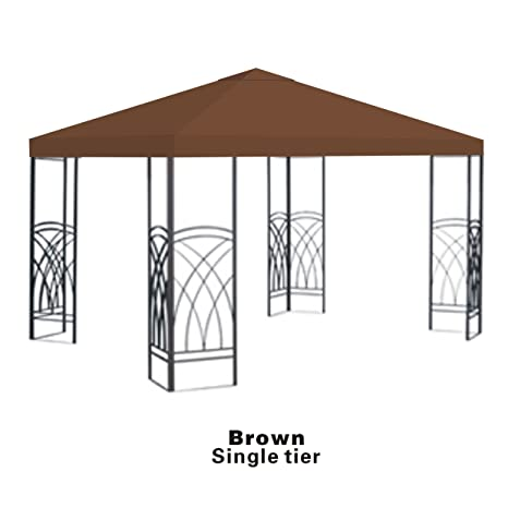 sports shoes c2eff 2f6b8 Strong Camel Replacement 10'X10'gazebo canopy top patio pavilion cover  sunshade plyester single tier-Brown