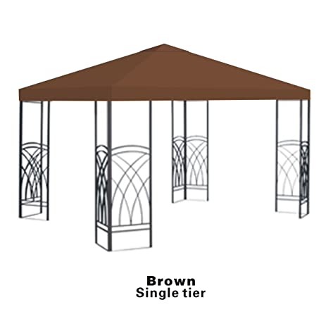 STRONG CAMEL Replacement 10u0027X10u0027gazebo canopy top patio pavilion cover sunshade plyester single  sc 1 st  Amazon.com & Amazon.com : STRONG CAMEL Replacement 10u0027X10u0027gazebo canopy top ...