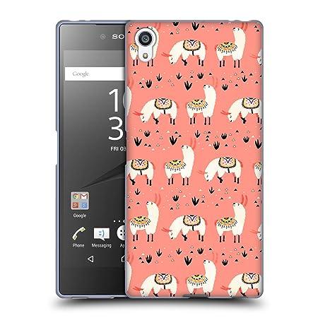 Head Case Designs Offizielle Lidiebug Weisses Lama 3 Tiermuster Soft Gel Hülle für Sony Xperia Z5 Premium/Dual
