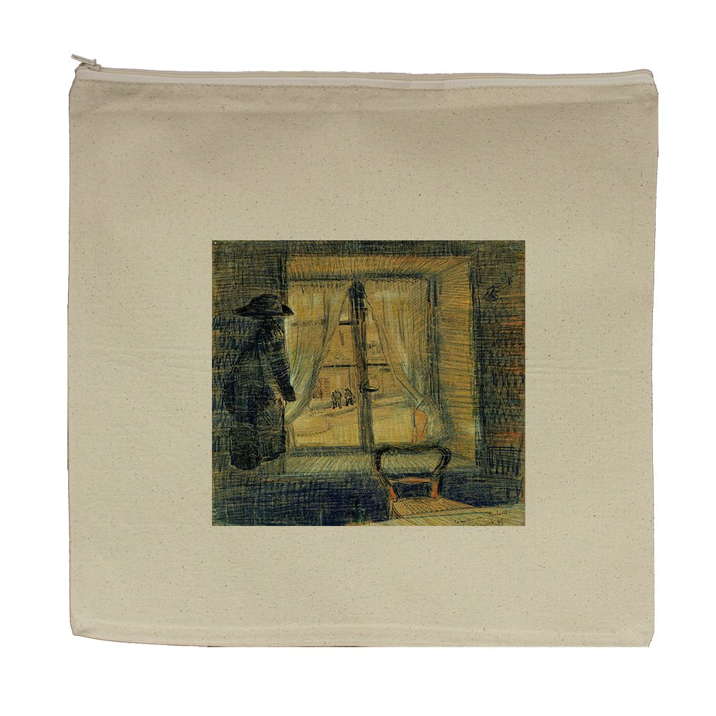 Window Bataille Restaurant (Van Gogh) Canvas Zipper Tote Bag Makeup Bag