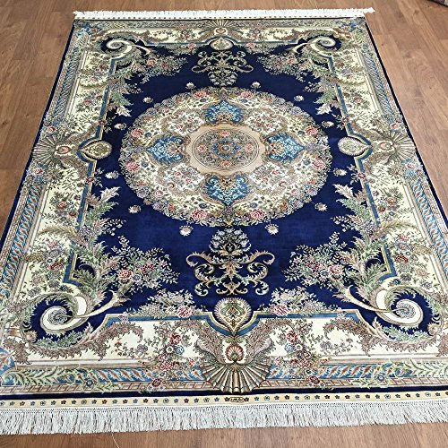 5'x7' Traditional Persian French Style Handmade Silk Carpet