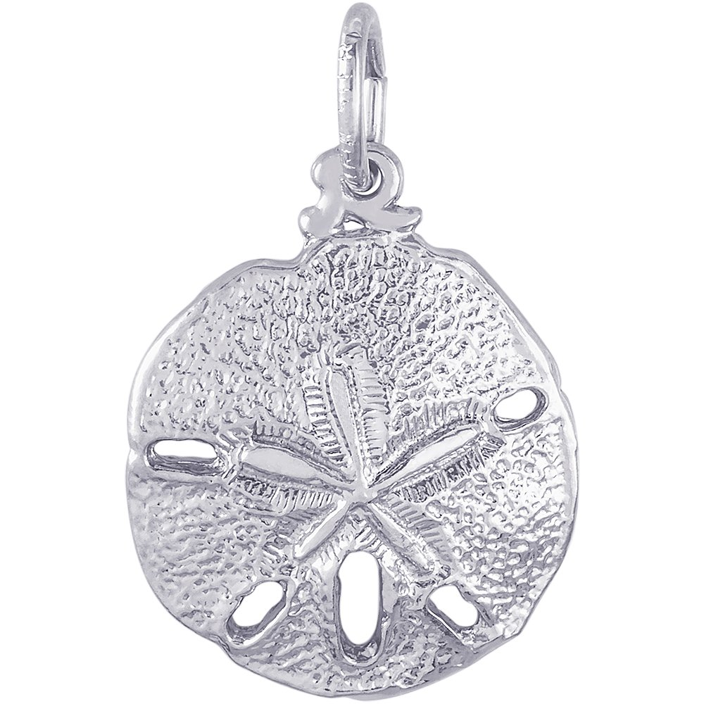 Rembrandt Charms 14K White Gold Sand Dollar Charm (0.59 x 0.59 inches)