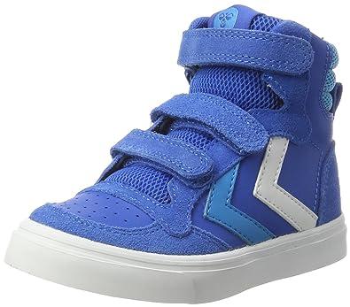 hummel STADIL LEATHER JR, Unisex Kids' Hi-Top Sneakers, Blue (Imperial