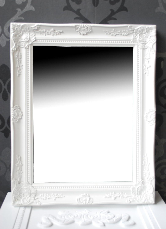 Spiegel wandspiegel flurspiegel fiona weiß barock 46,5 x 37 cm ...