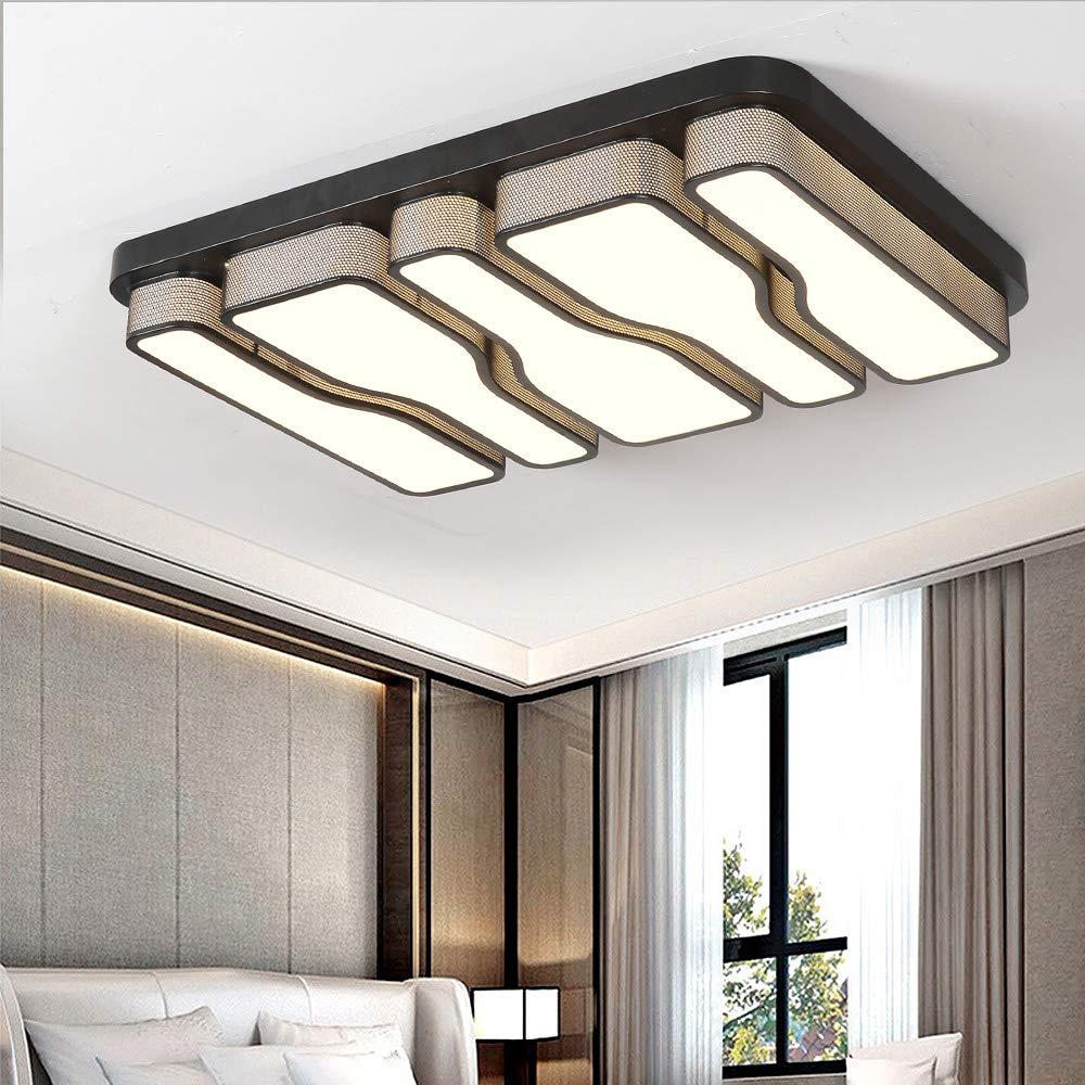 L/ámpara de techo LED 64W Luz de techo blanca fr/ía 6000K Cuadrado Sala de estar Corredor Pantalla de acr/ílico L/ámpara de pasillo Dormitorio Luz de cocina Dise/ño moderno L/ámpara de pared