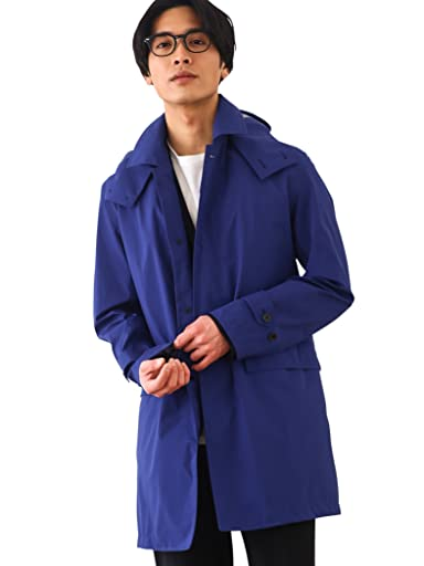 Gelanots Hooded Balmacaan Coat 3125-699-0407: Royal