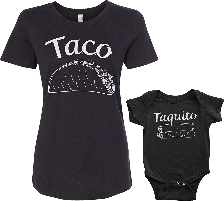 Threadrock Taco & Taquito Infant Bodysuit & Women's T-Shirt Matching Set