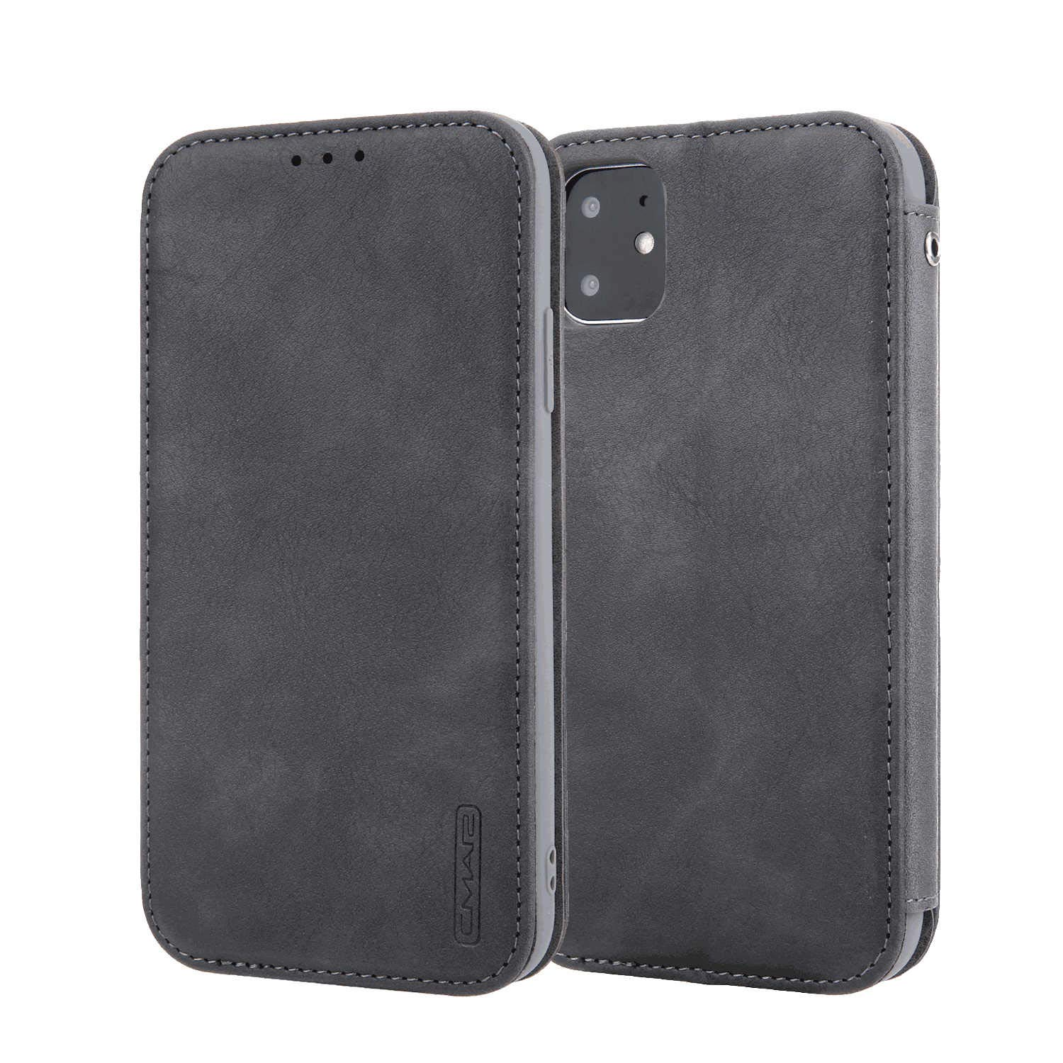 Gray PU Leather Wallet Flip Case for Samsung Galaxy S10 Positive Cover Compatible with Samsung Galaxy S10
